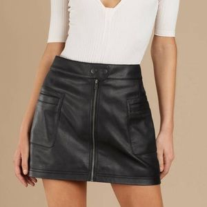 Free people faux leather Aline high waisted mini